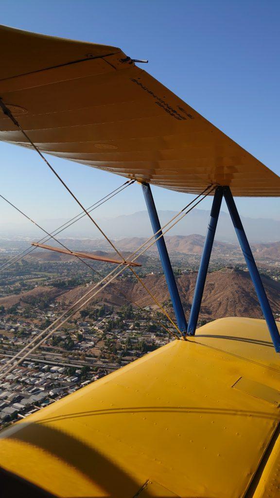 WW2 Biplane Stearman Army Biplane 1942. Aces High Aviation Long Beach 3501 N Lakewood Blvd Long Beach CA 90808